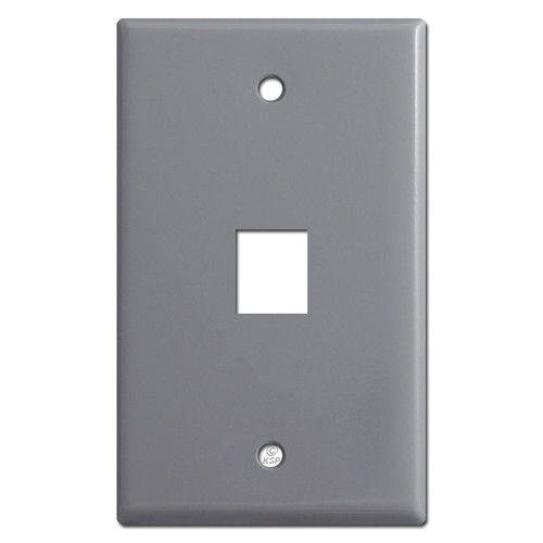 Single Phone Jack Cover Plates - Gray