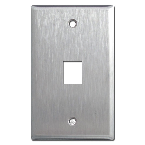 1 Phone Jack Cover Plate - Spec Grade Stainless Steel