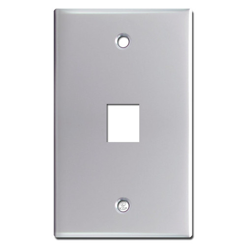 1 Phone Jack Switch Plate - Polished Chrome