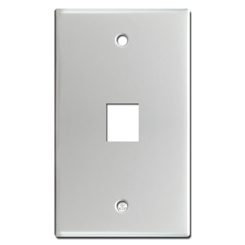 1 Telephone Jack Wall Covers - Brushed Aluminum
