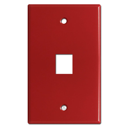 1 Telephone Jack Switch Cover Plates - Red