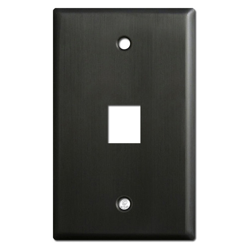 One Telephone Jack Wallplates - Dark Bronze