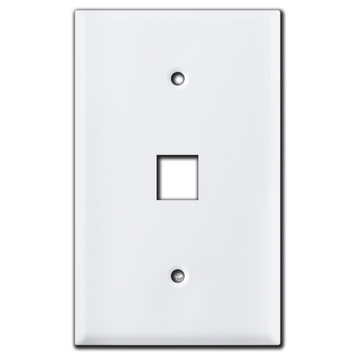 Oversized 1 Telephone Jack Wall Cover Plates - White