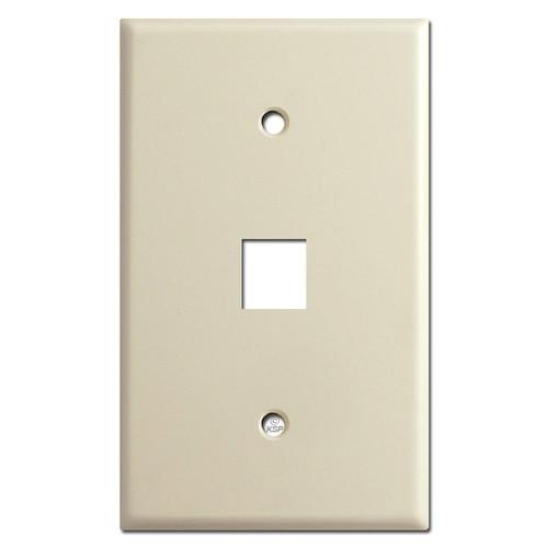 Jumbo 1 Telephone Jack Switch Plates - Ivory