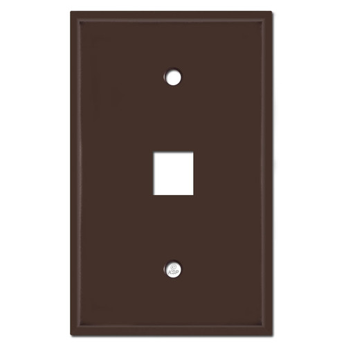 Oversized Single Phone Jack Plate Covers - Brown