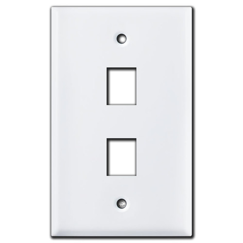 2 Phone Jack Switch Plate - White