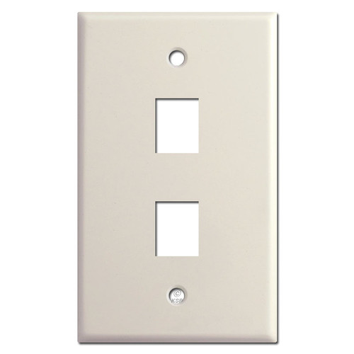 2 Phone Jack Switch Plate Covers - Light Almond