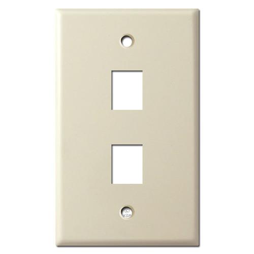 2 Phone Jack Wall Plates - Ivory