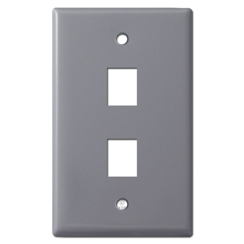 2 Telephone Jack Wall Covers - Gray
