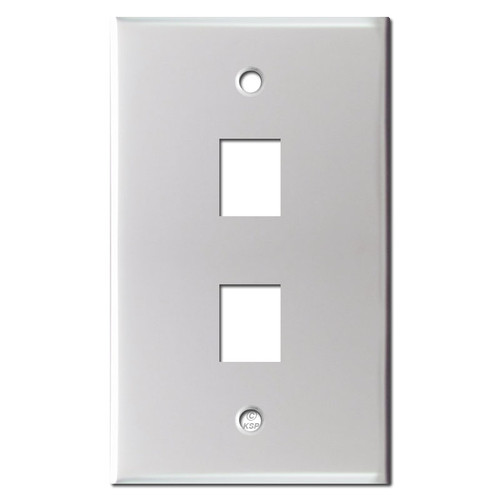 Double Phone Jack Switch Plates - Brushed Aluminum
