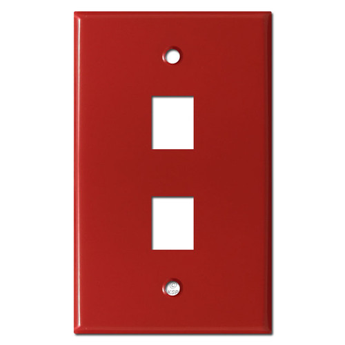 Double Phone Jack Wall Covers - Red