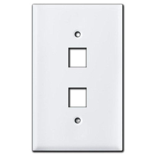 Oversized 2 Telephone Jack Cover Plates - White