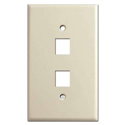 Jumbo 2 Telephone Jack Wall Covers - Ivory