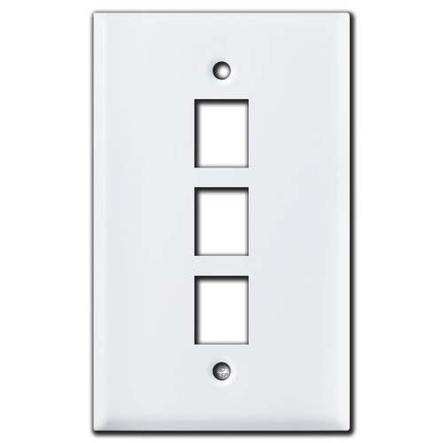 3 Telephone Jack Covers - White