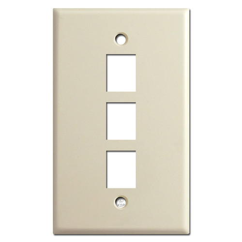 Triple Telephone Jack Switch Plate - Ivory