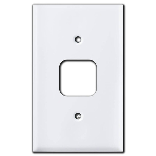 Old Style Square Phone Jack Wall Plates - White