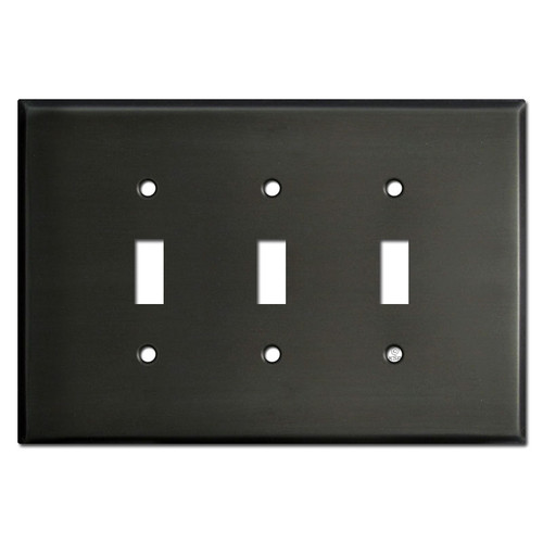 Jumbo Triple Toggle Wall Covers - Dark Bronze