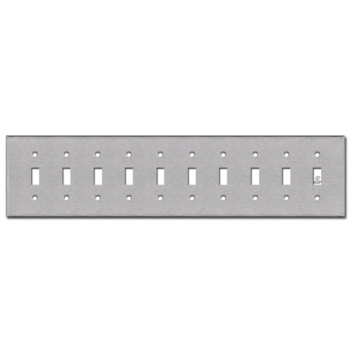 10 Toggle Switch Plates - Satin Stainless Steel