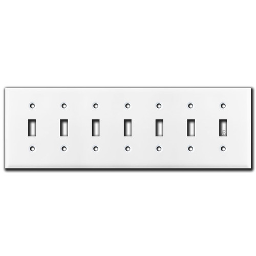 7 Toggle Switch Covers - White