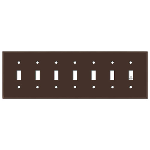 7 Gang Toggle Switch Cover - Brown