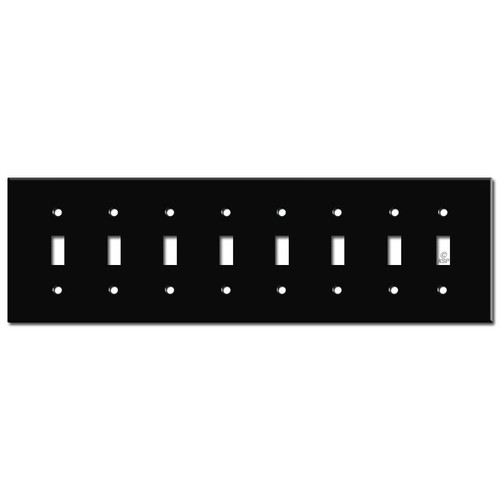 8 Toggle Switchplate - Black