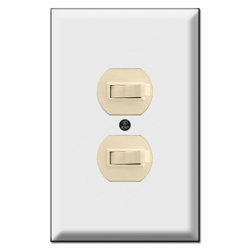Oversized Single Gang Switch Plate Covers for Sideways Toggles (switches not included)