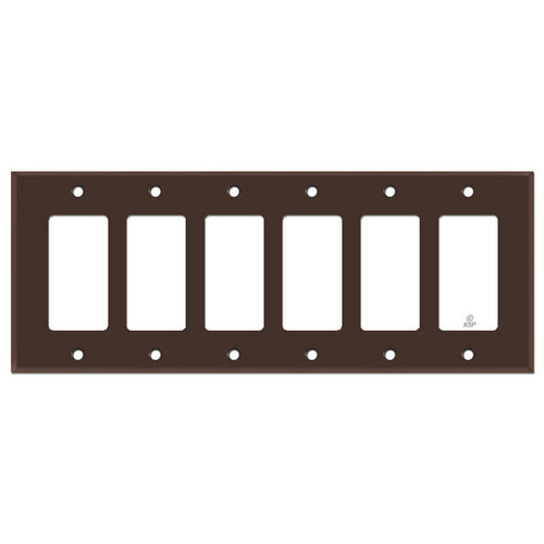6 Rocker Wall Plate - Brown