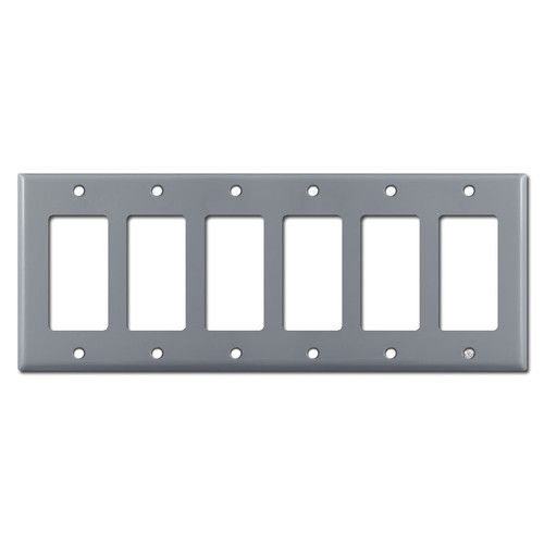6 GFCI Plate Covers - Gray