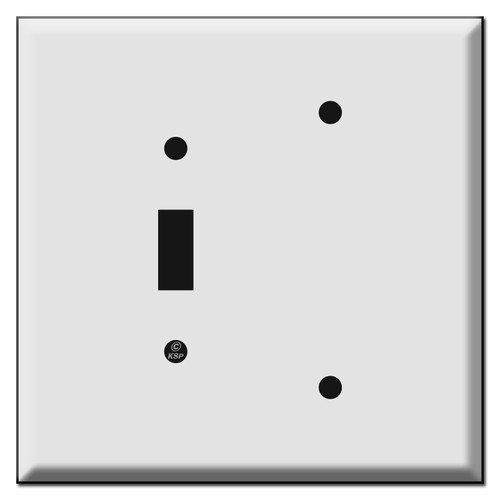 Oversized Toggle - Blank Combination Light Switch Plates