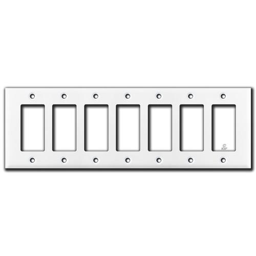 7 Gang Decora Plate - White
