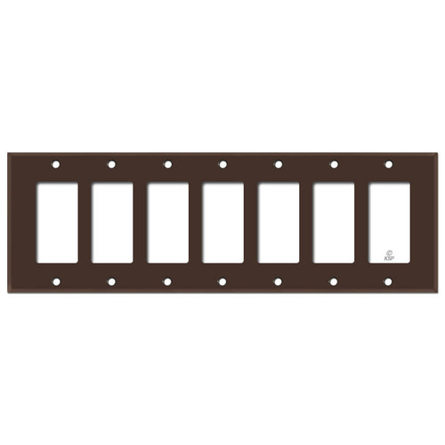 7 GFI Switch Plate Covers - Brown