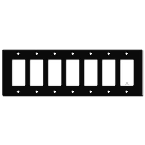 7 Rocker Switchplate - Black