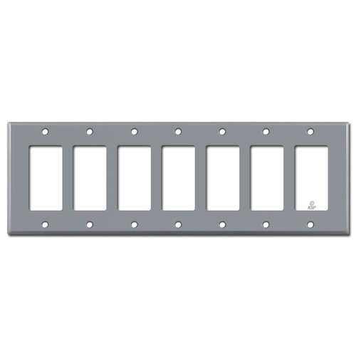 7 Rocker Wallplate - Gray