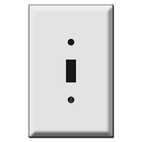 Jumbo Single Toggle Switch Plate Covers