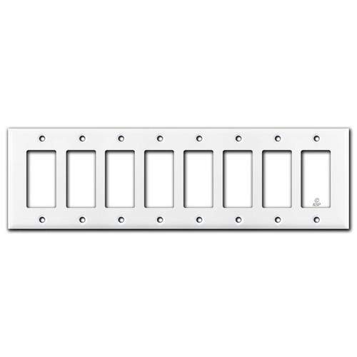 8 Gang Decora Plate - White