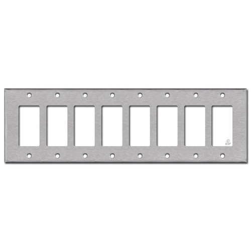 8 GFI Cover Plates - Satin Stainless Steel