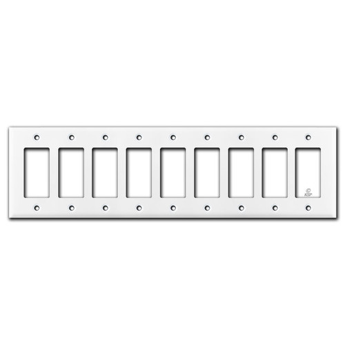 9 Rocker Wall Plate - White