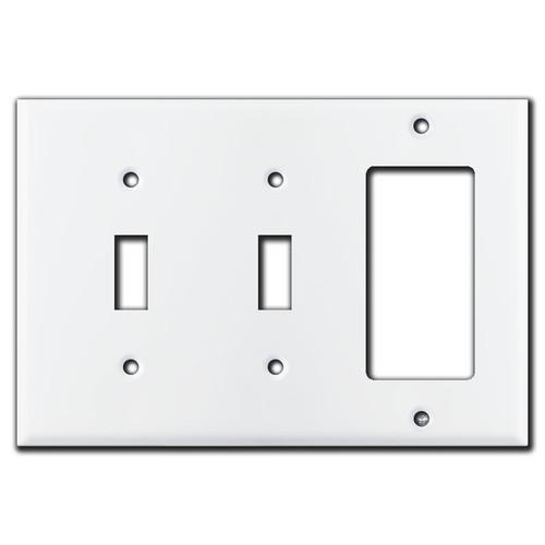 2 Toggle 1 Rocker Wall Plate - White