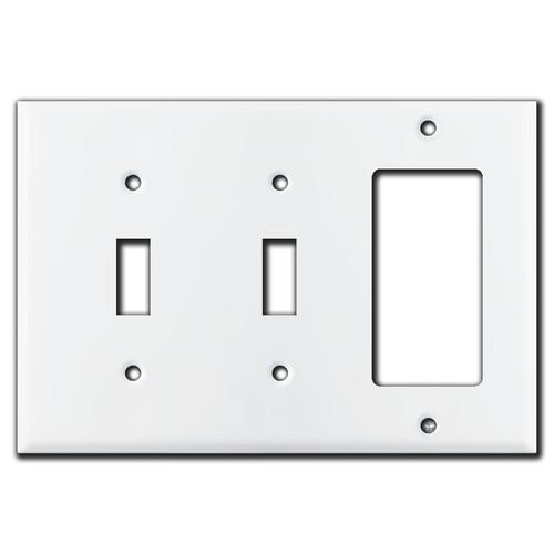 2 Toggle 1 Rocker Wall Plate - White