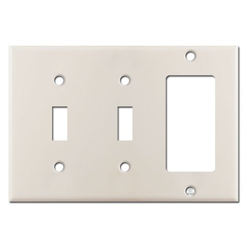 2 Toggle 1 Rocker Switch Plate - Light Almond