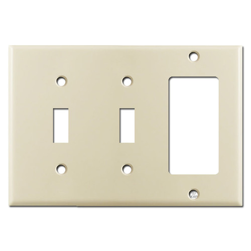 2 Toggle 1 GFCI Switch Plate - Ivory