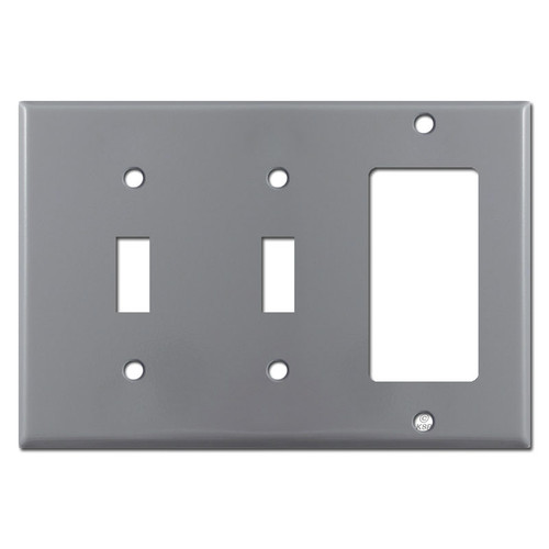 2 Toggle 1 Decora Switch Plate - Gray