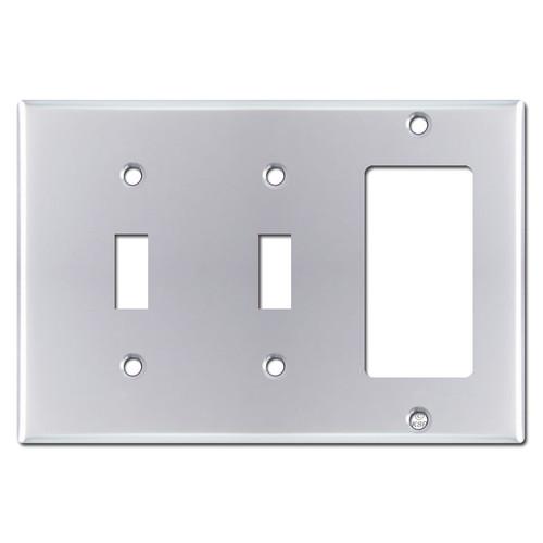1 Decora 2 Toggle Switch Plate - Polished Chrome