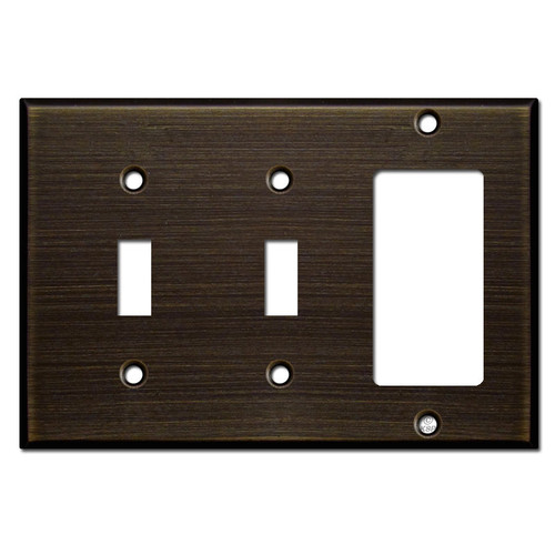 Double Toggle Decora Switch Wall Plate - Oil Rubbed Bronze