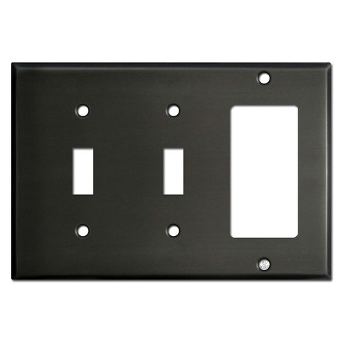 Double Toggle GFCI Switch Plate - Dark Bronze