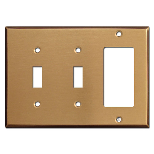 Double Toggle/GFCI Wall Plates - Satin Bronze