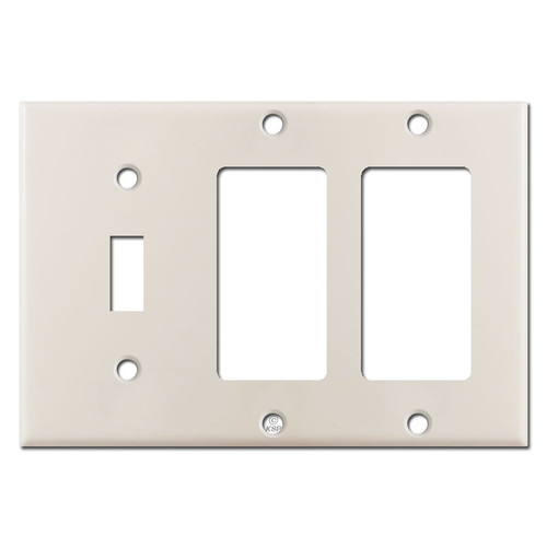1 Toggle 2 Decora Switch Plates - Light Almond