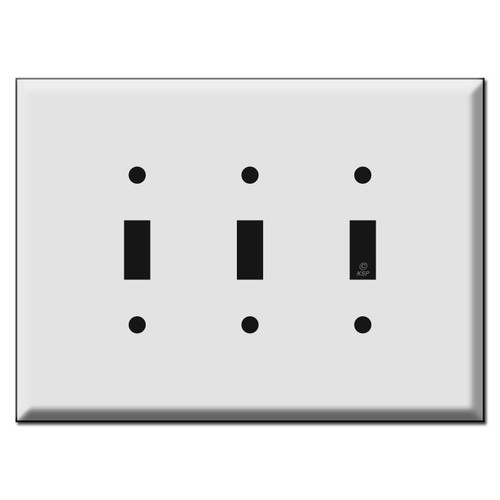 Oversized 3 Toggle Switch Plate