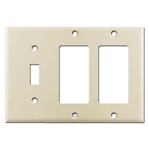 3-Gang 1-Toggle 2-Decora Switch Plate - Ivory