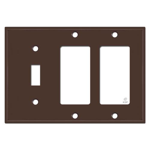 1 Toggle 2 GFI Wall Plate - Brown